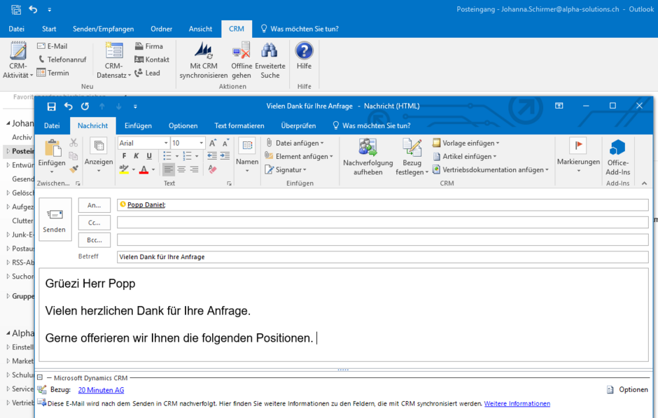 Outlook Integration CRM
