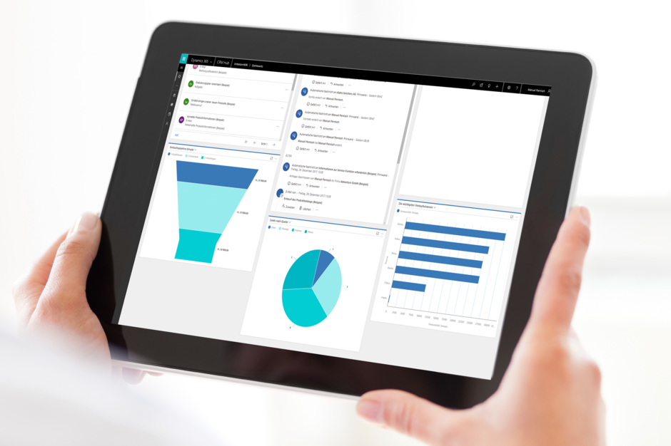 CRM Tablet Dashboard